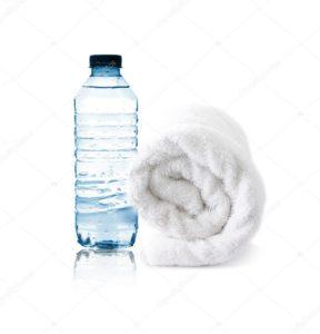 serviette bouteille d'eau bodytech Center